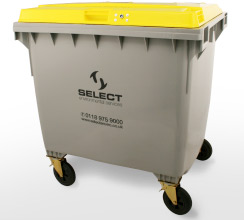 clinical waste 1100 litre container