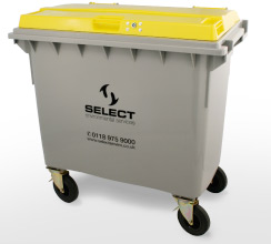 clinical waste 660 litre container