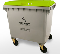 dry mixed recycling 1100 litre container