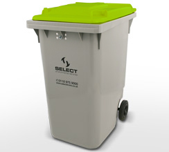 dry mixed recycling 360 litre container