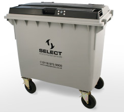general waste 660 litre container