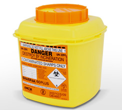Orange 6L Sharpak sharps container