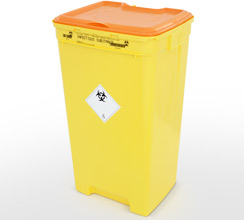 Infectious clinical waste container