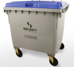 paper & cardboard recycling 1100 litre container