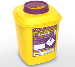 Purple 12L sharps container