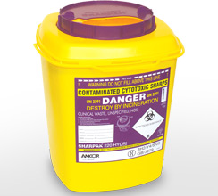 Purple 22L sharps container