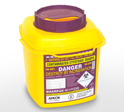 Purple 6L sharps container