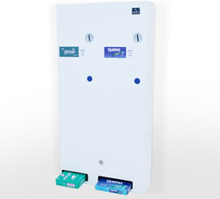 Sanitary product dual vending units