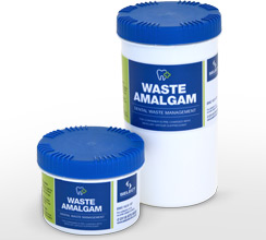 Waste amalgam containers