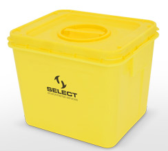 Yellow clinical waste container